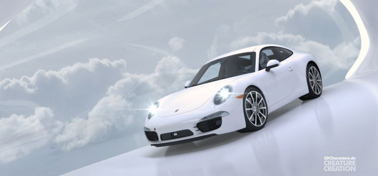 Porsche 911 | CGI car - illustration - 3dcharacters | ello
