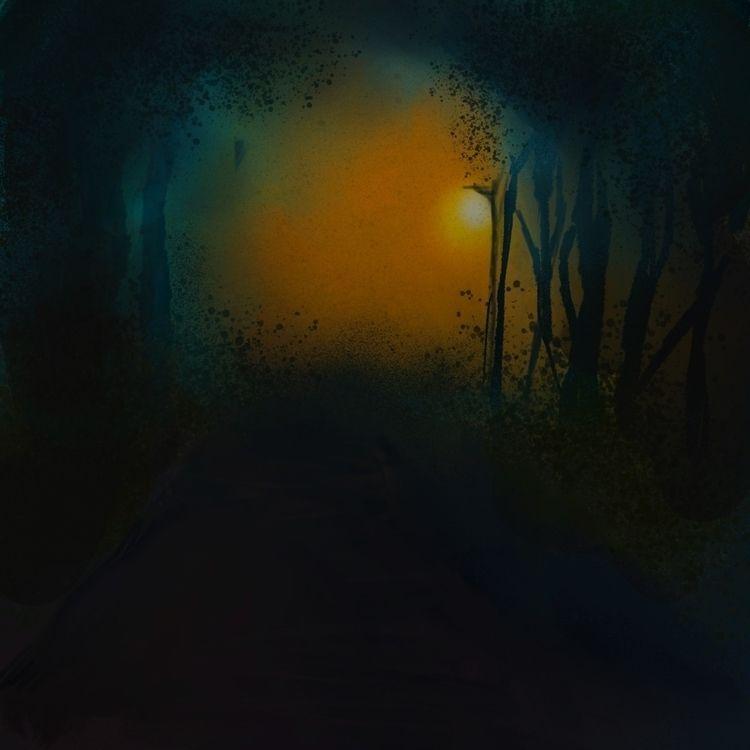 Midnight stroll - art - ridm16 | ello