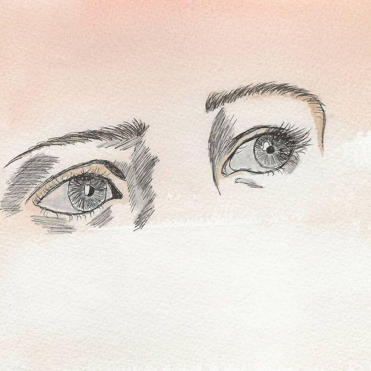 Sketch eyes - illustration, eyedrawing - em_ixchel | ello