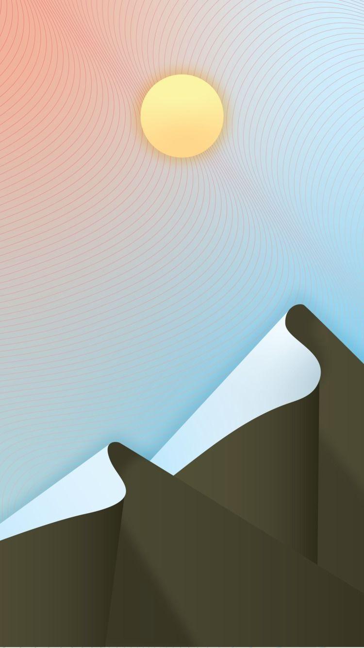 Denver - Mountains, Postcard, Illustration - verastudio | ello