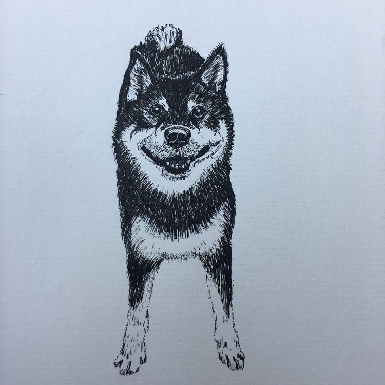 Smiley; 3x5, ink paper... cute  - akcarastudio | ello