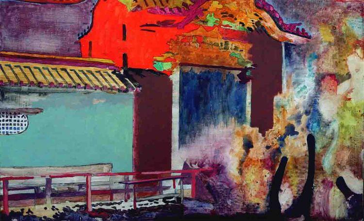 Temple. Painting Peter hallberg - peterhallberg | ello