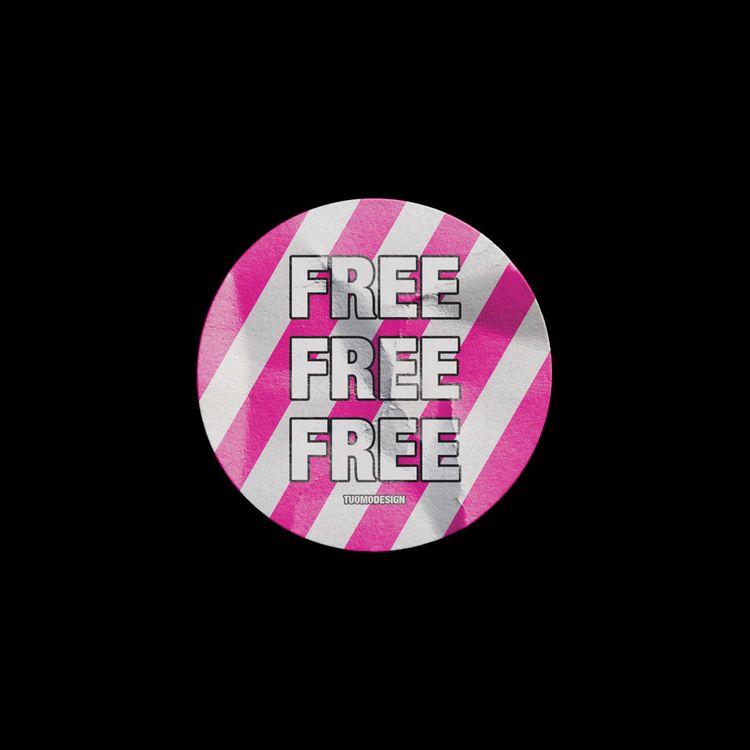 [FREE] Sticker Mockup Easily ed - tuomodesign | ello