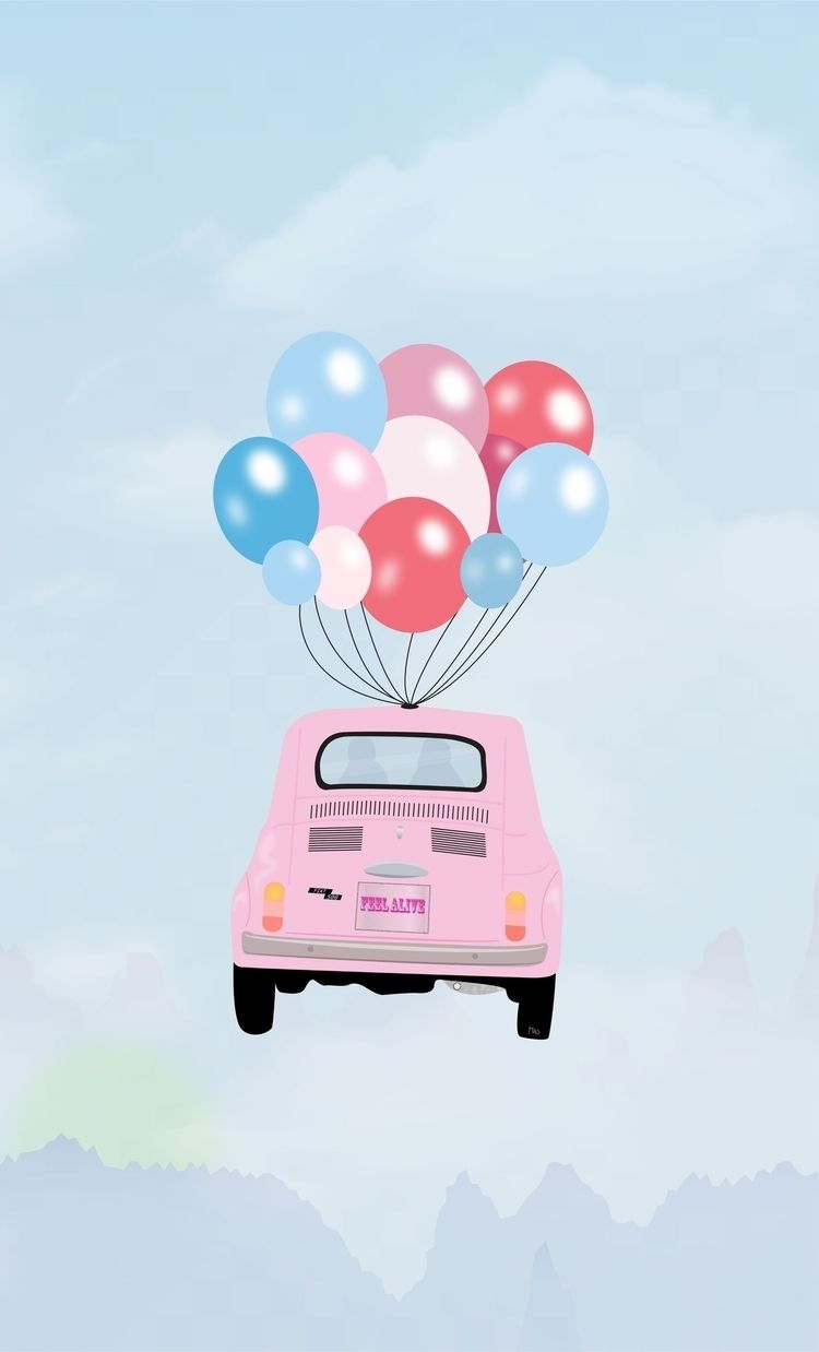Feeling alive FIAT 500 - pink, cars - masgraphicdesign | ello