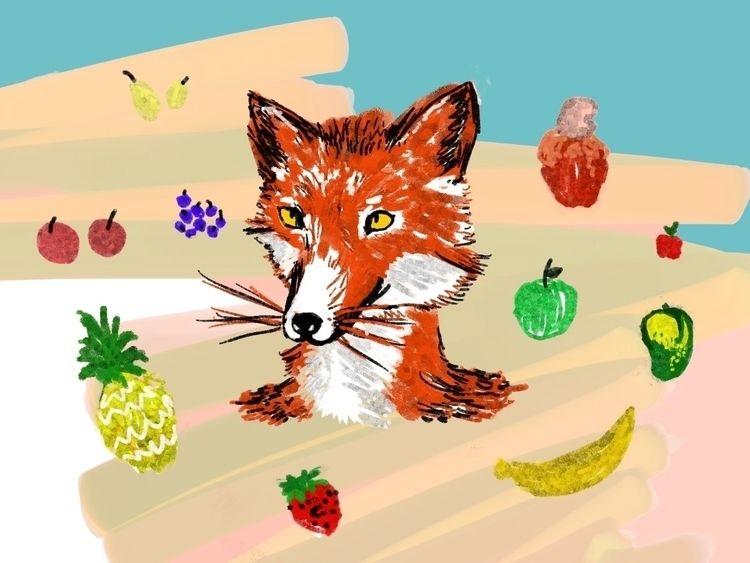 fox fruit - digitalart, painting - daviso3 | ello
