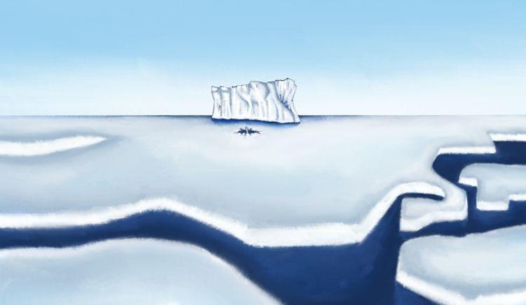 escaping icy horror autodesk sk - artmania | ello