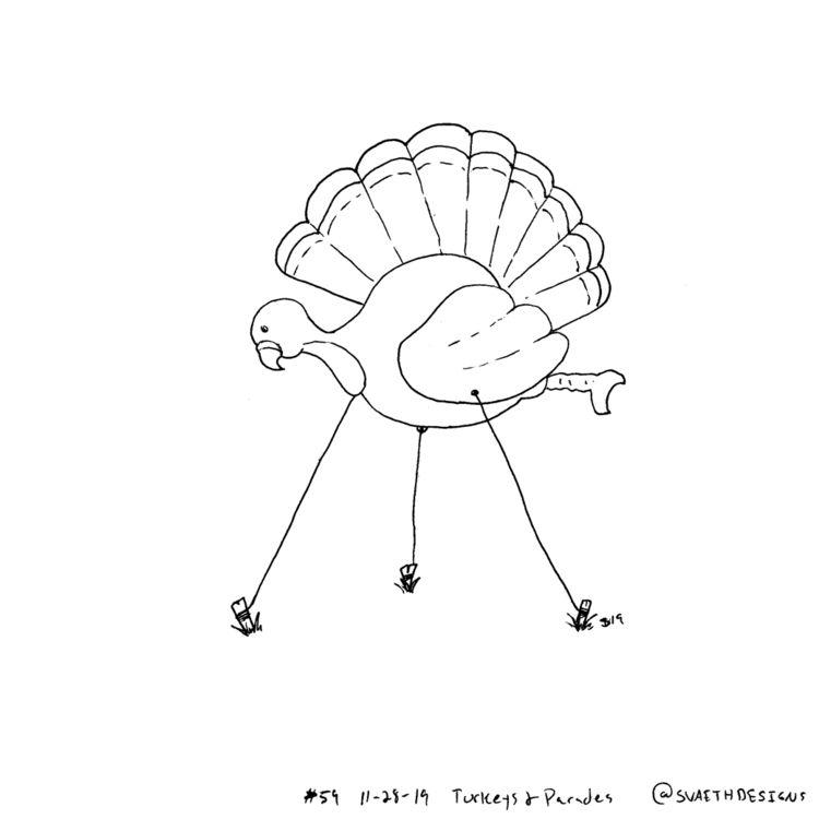 Sketch Daily - 59 Turkeys Parad - svaeth | ello