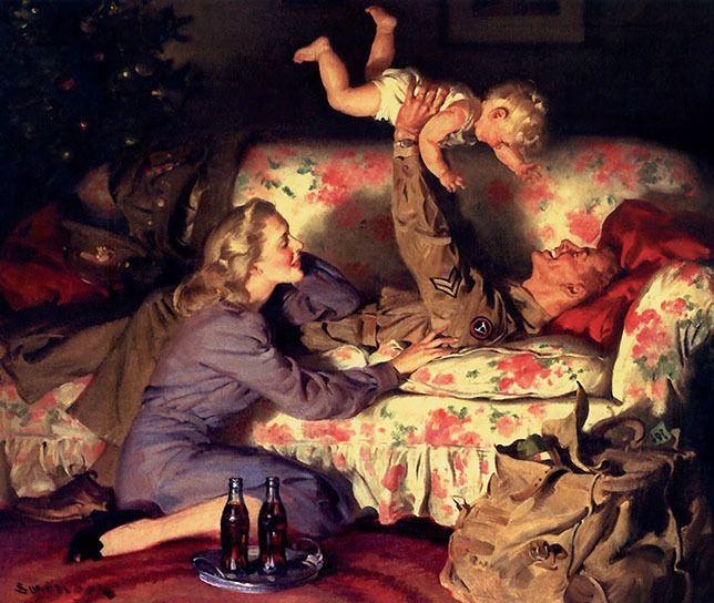 Coke ad art, 1940s - arthurboehm | ello