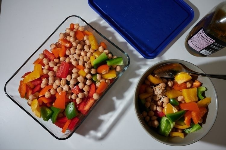 food photos - peppers, turkey, chickpeas - jessiegibson | ello