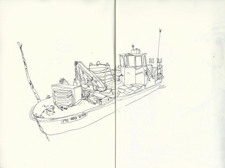 boat, illustration, lovedrawing - antoninguillot | ello