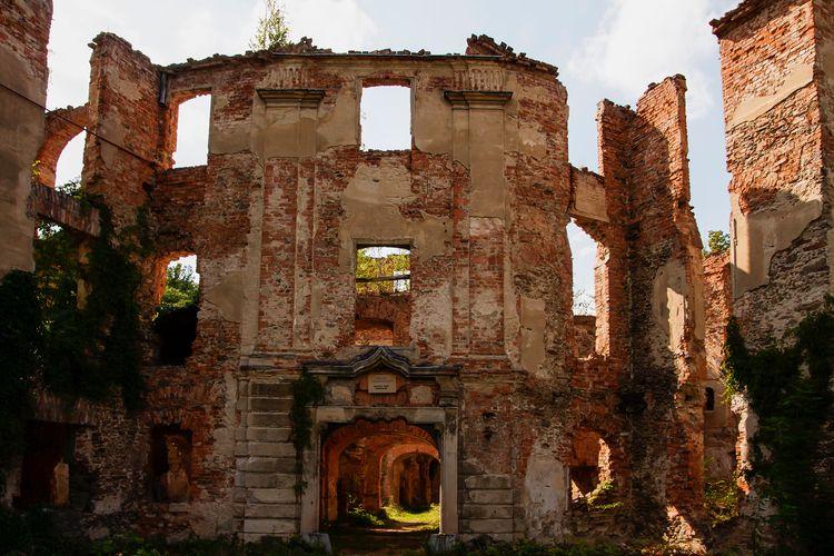 Stary zamek okolicach Bielawy - abrys | ello