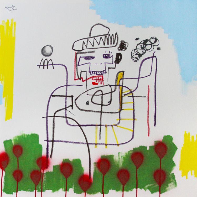 Title: garden red roses. Medium - linco7n | ello