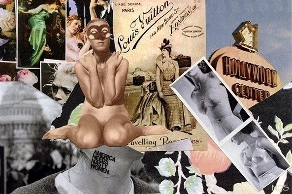 Hand Cut Collage Postcard Nicol - strangeworld | ello