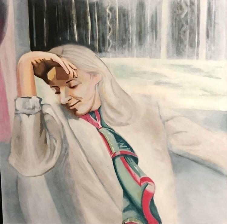 Krysten. hated making painting - whitneysanford | ello