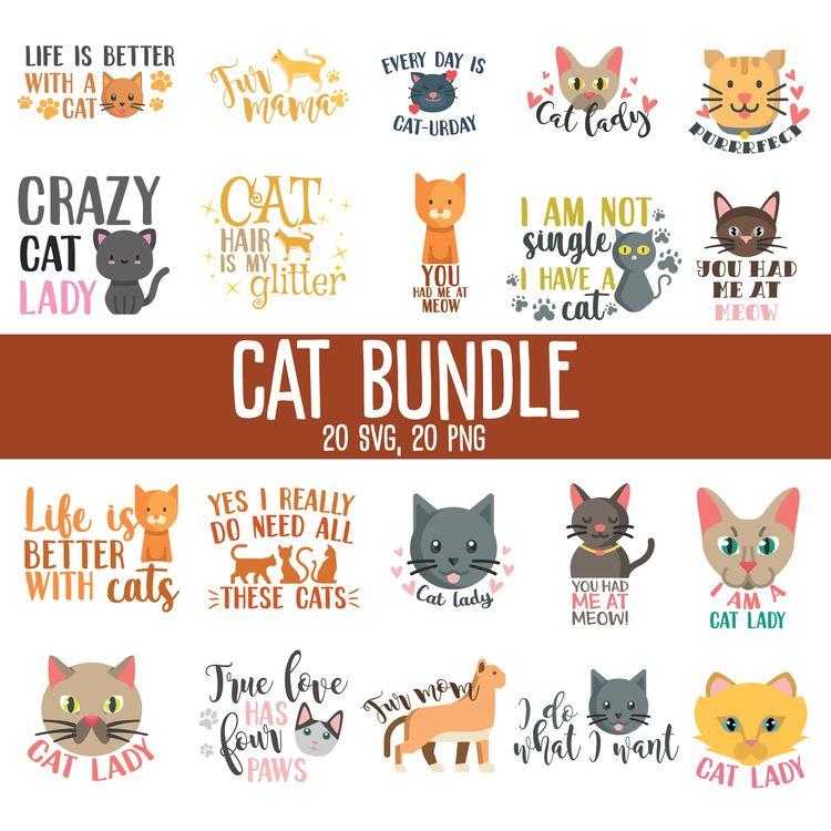 CAT BUNDLE - cat, catsvg, catpng - annijajansone | ello