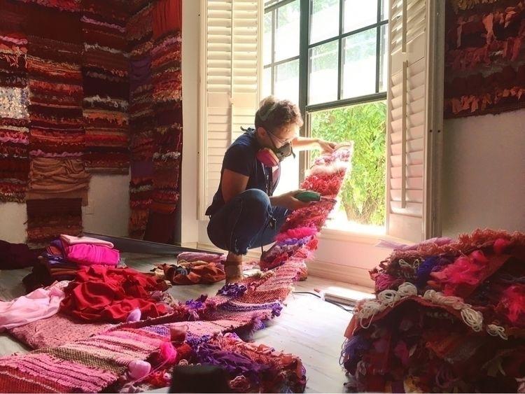 Cutting recycled weaving strips - mollymargaretsydnor | ello