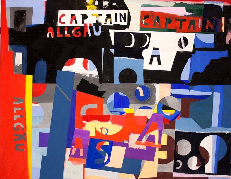 Captain Allgäu, painting collag - boraistudio   ello