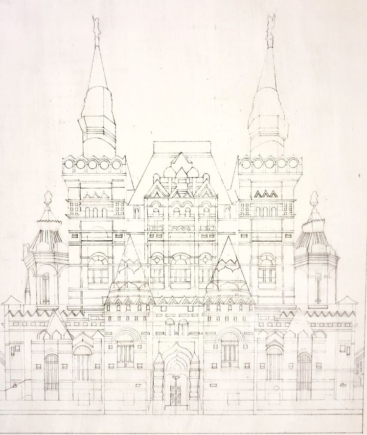 Moscow. coloring book - penandink - whitneysanford   ello