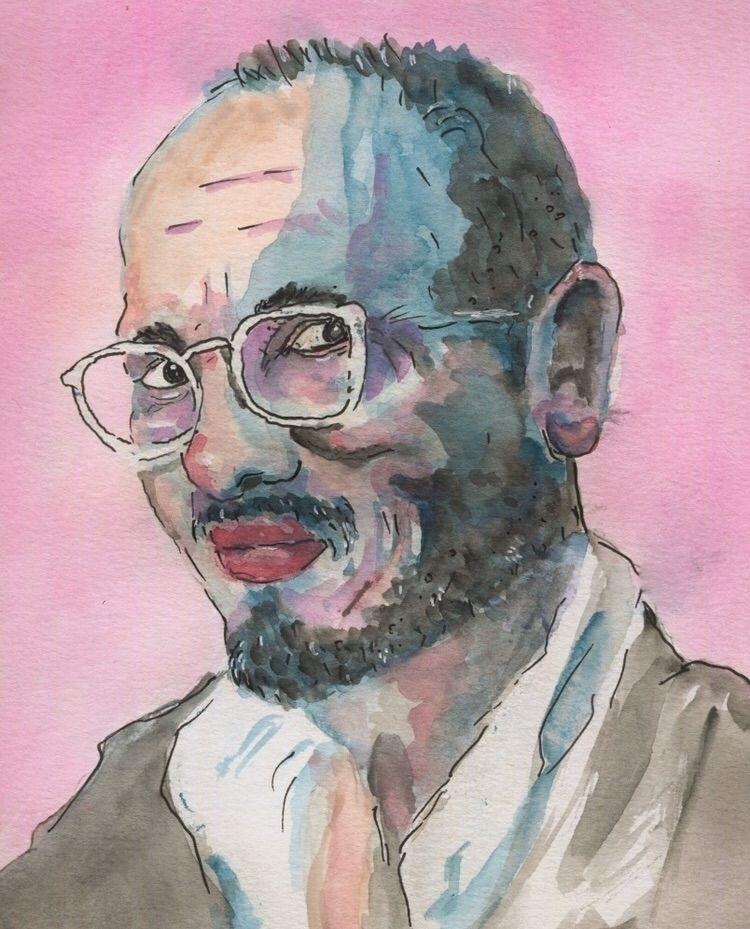 Portrait Man - watercolor, watercolorart - gravesart   ello