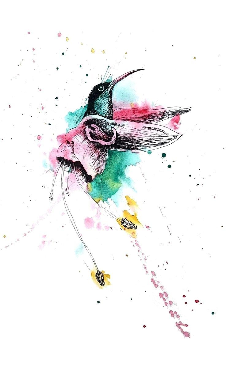 Bird eats symbiosis = Hummingbi - leacmi | ello