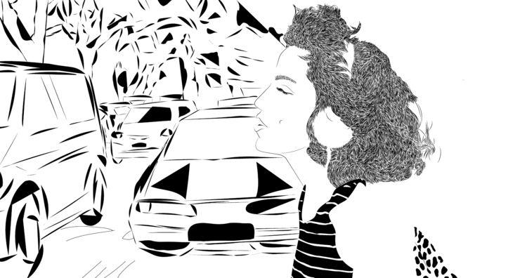 illustration, wacom, blackandwhite - danielkeysary | ello