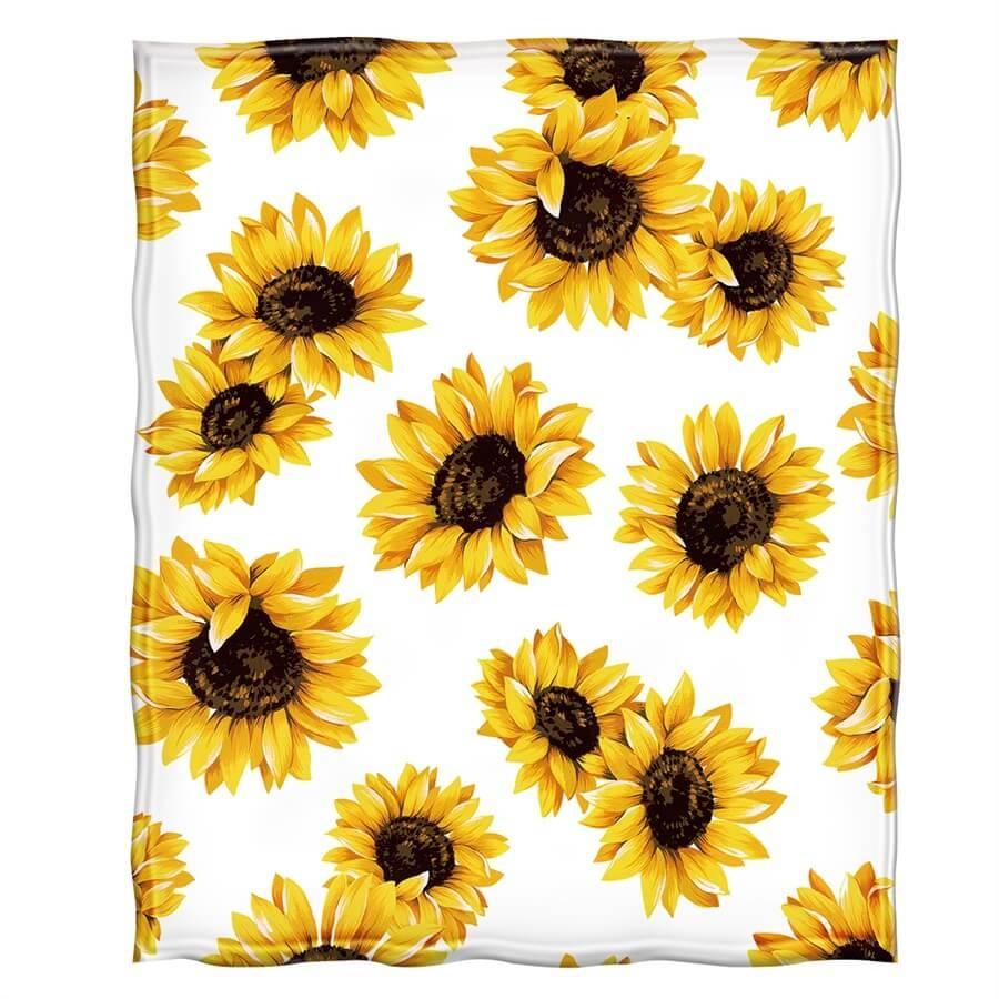 Sunflower Throw Fleece Blanket  - ivysmith | ello