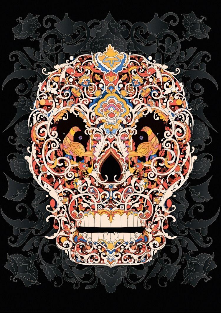 Sugar Skull Illustration - stabyadad | ello