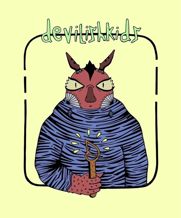Light Bearer  - illustration, digitalart - devilishkids | ello