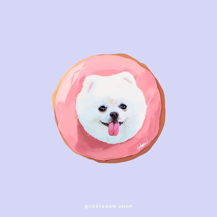 Milla Donut - Painting Digital  - lostanaw | ello