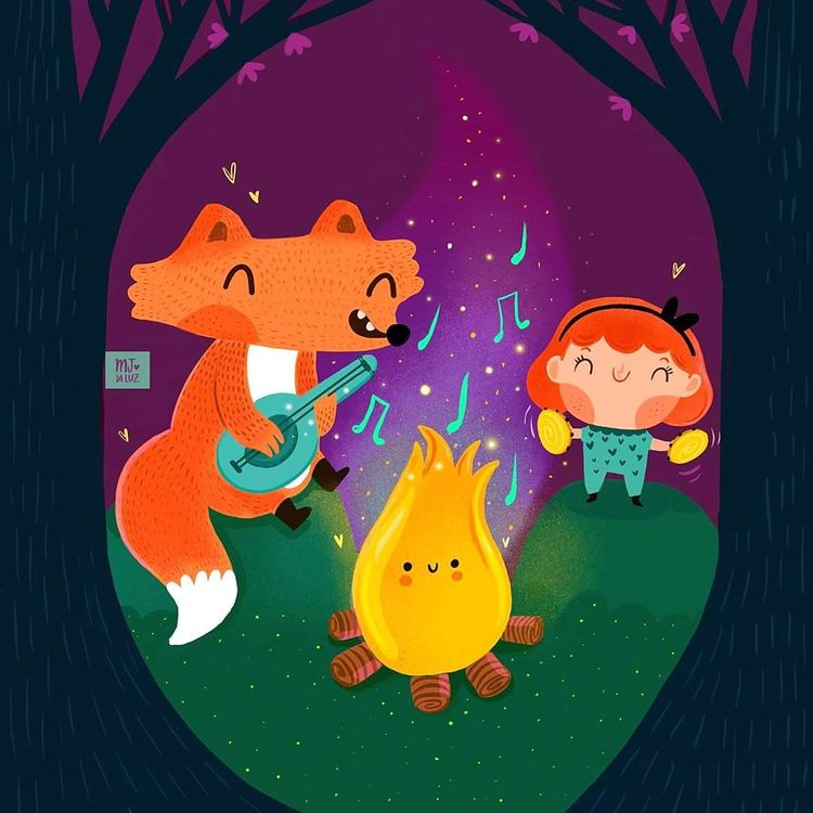 Children illustration. Midnight - mjdaluz   ello