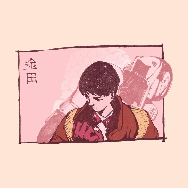 Kaneda, Akira - anime, art, illustration - danielido | ello