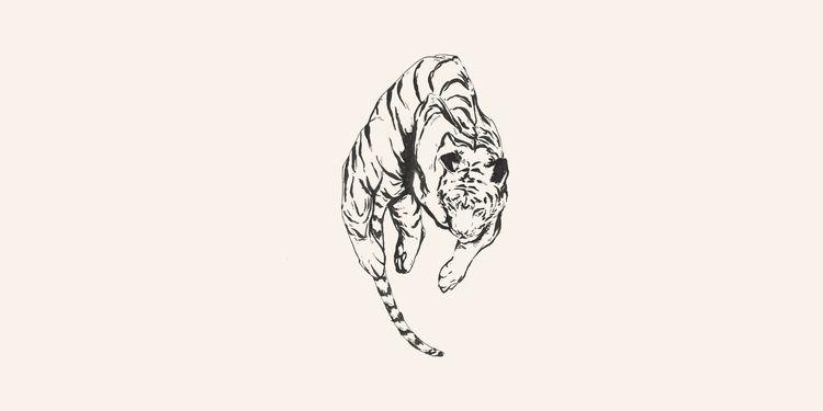 Tiger // Chinese Medicine - illustration - danielido | ello