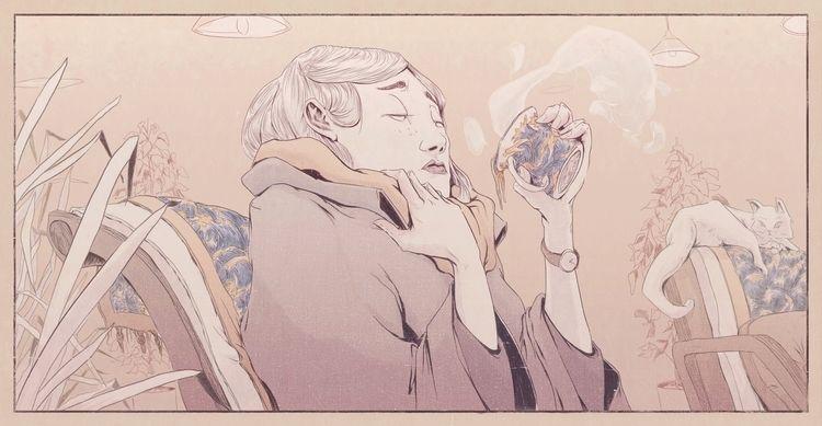 Tea Girl! Submitted Ello Artist - danielido | ello