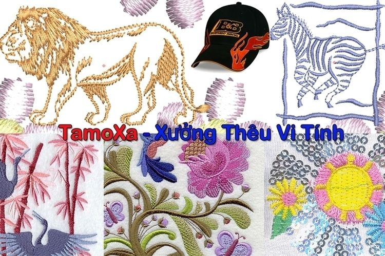 Thêu vi tính Tamoxa - Với kinh  - tamoxa   ello