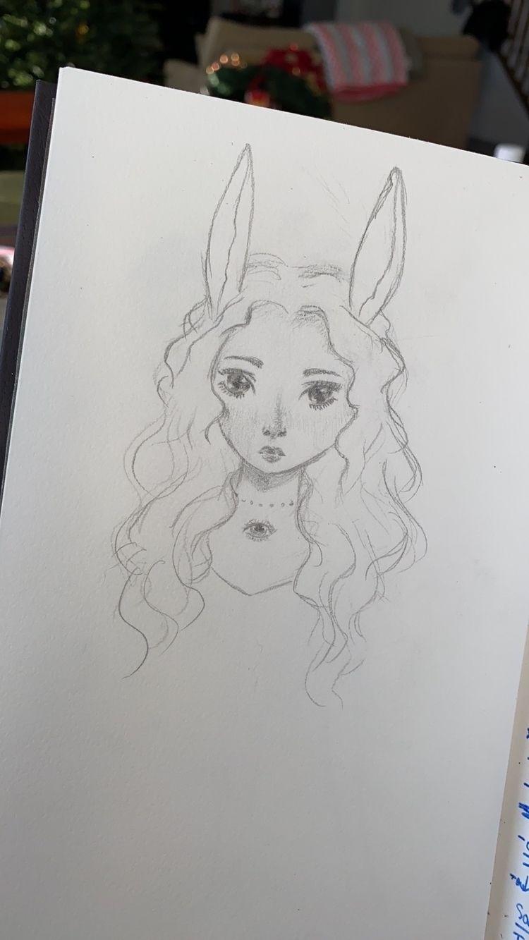 WIP character - sketch, esquis, art - larvisty | ello