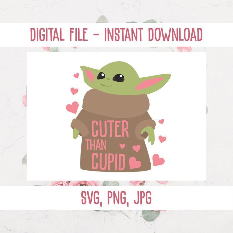Baby Yoda cuter cupid SVG/PNG/J - annijajansone | ello