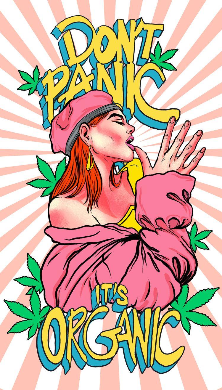 Illustration Stoner Girl hand w - rahuljonline   ello