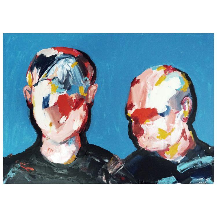 friends Acrylic canvas 80x60 - civit | ello