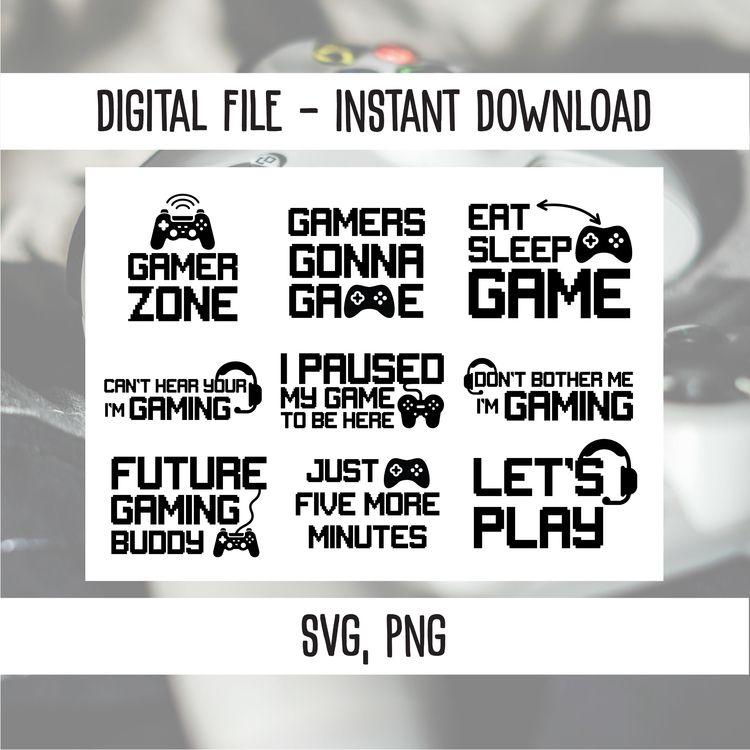 Gaming designs SVG, PNG, files - annijajansone | ello