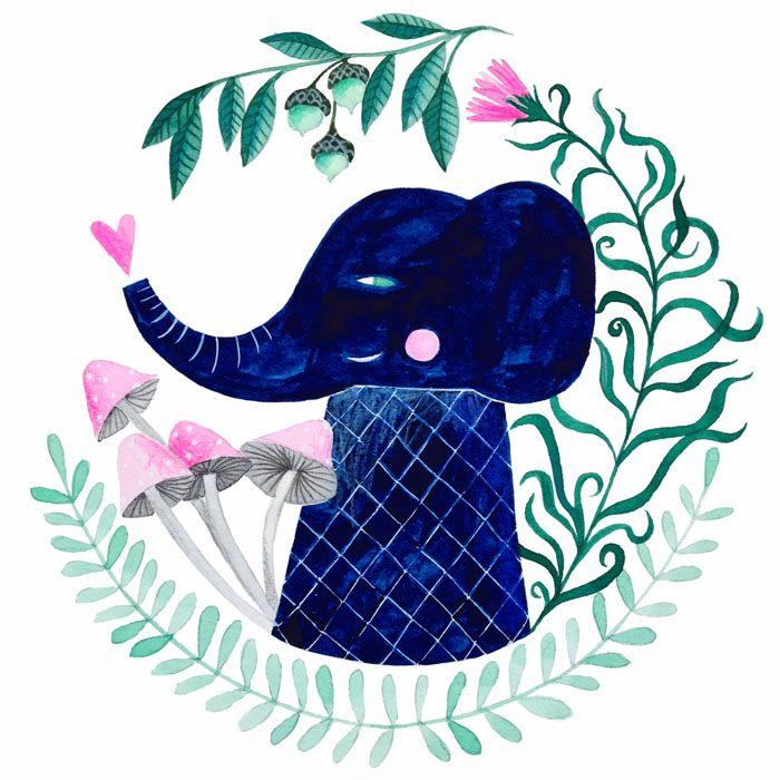 watercolor, illustration, botanical - pinknounou | ello
