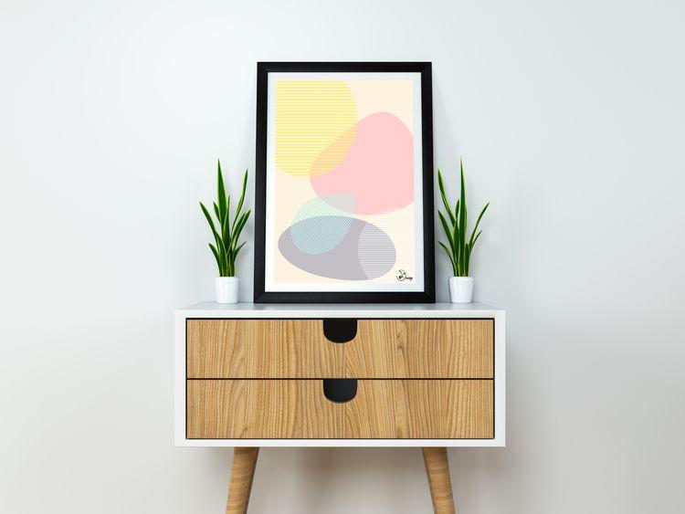 Lost Shapes Abstract soft compo - designdn | ello