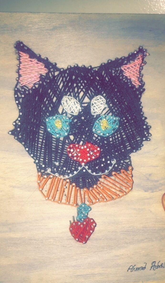 cat, tshirt, stringart - ahmedolf | ello