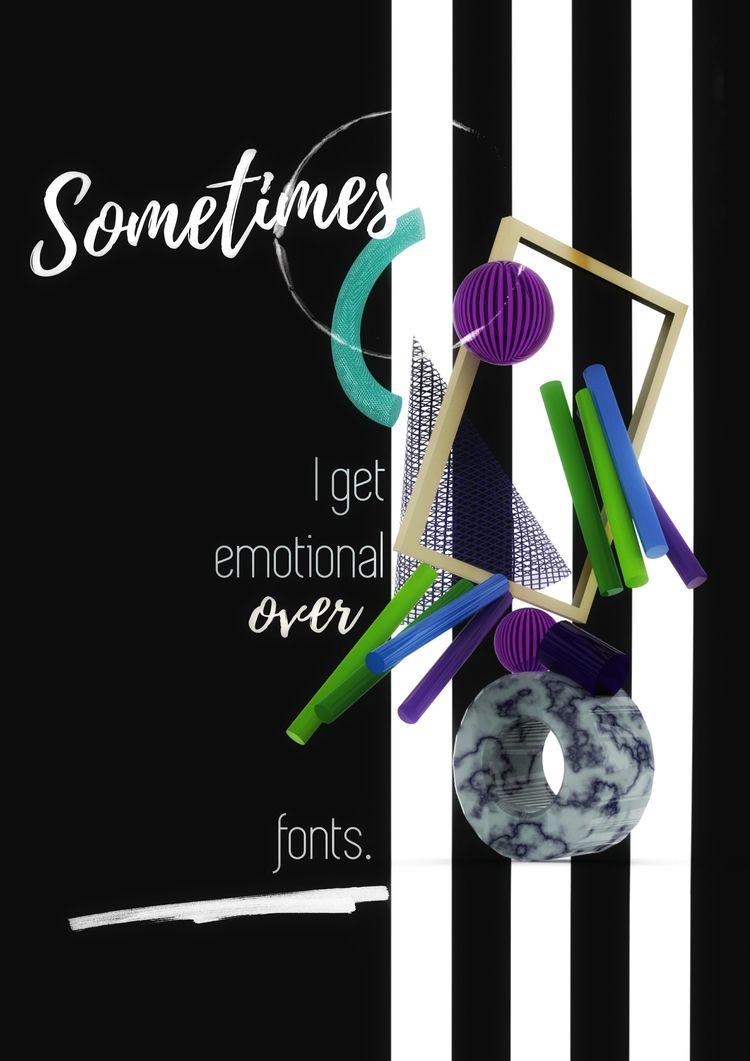 emotional fonts designer life b - dissonanca | ello