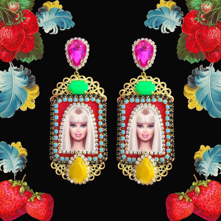 pop art luxury earrings / handm - mouchkine-jewelry | ello