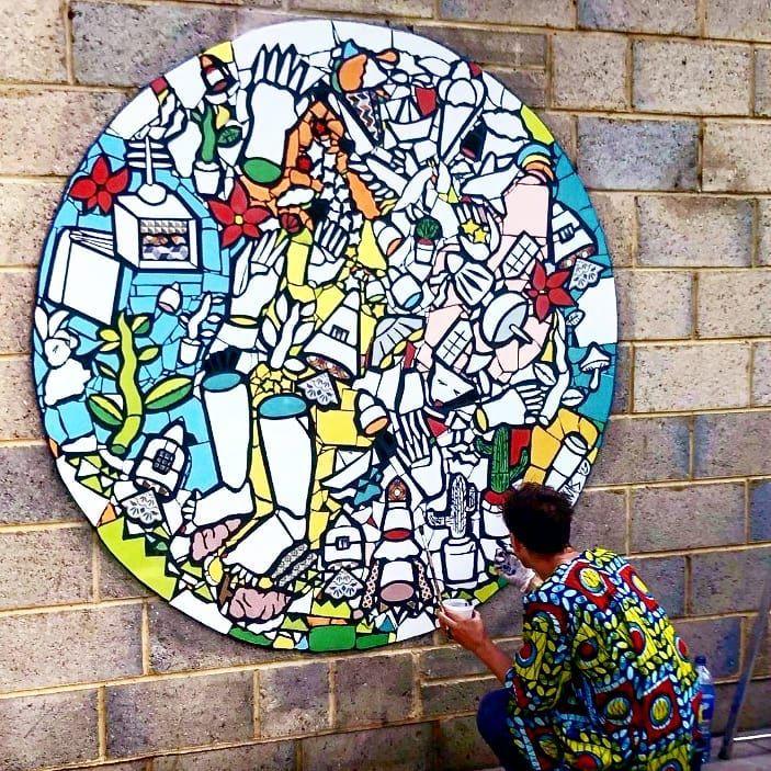 Uhp mosaic ø180 hand cut cerami - matlakas | ello