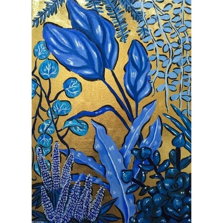 Rhapsody blue . Oil gold leaf c - crazy_mermaid | ello