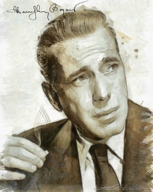 digital drawing Humphrey Bogart - zzlaticanin | ello