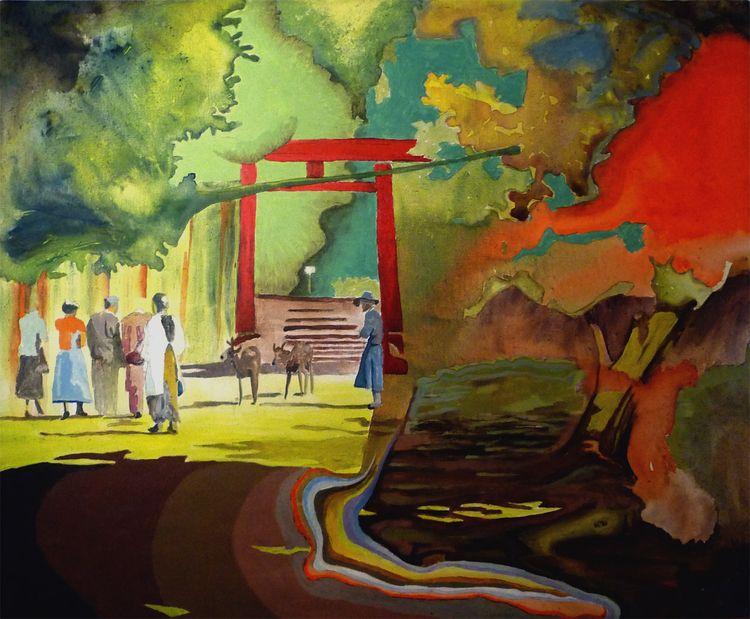 2 deer park. Painting Peter Hal - peterhallberg   ello
