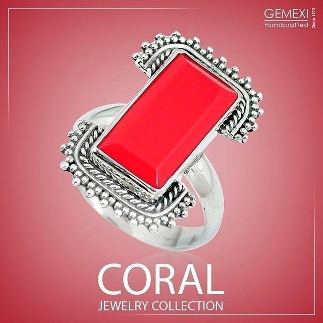 Coral stone jewelry precious ge - gemexi | ello