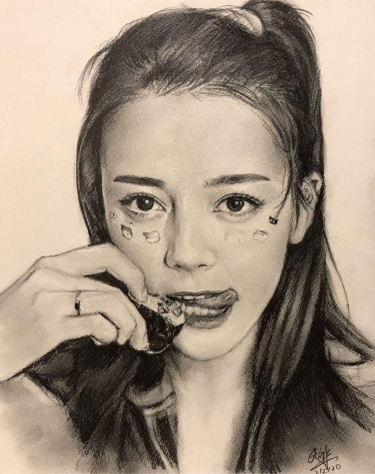 Pencil drawing Chinese actress  - chaseroflight | ello